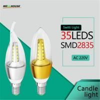 LED Bulb Candle Light Spotlights ampolletas led E14 SMD2835 5W 7W AC 220V 240V Cold Warm White Chandelier Lamps Manufactures