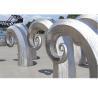 Public Art Large Metal Wave Sculpture , Outdoor Abstract Steel Sculpture Manufactures