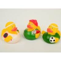 Sport Theme Hockey Rubber Duck , Bath Plastic Weighted Ducks For Racing Manufactures