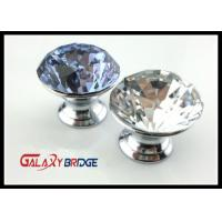 Cut Face Purple Crystal Drawer Handles And Knobs , Zinc Cupboard Knobs Glass Crystal Drawer Knobs Manufactures