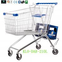 Large Zinc Plated Kids Metal Shopping Carts With Baby Seat European Style Manufactures