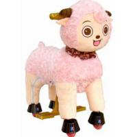 Unique Pink Plush Stuffed Sheep Toys Animals For Children , Stuffed Baby Toys Manufactures
