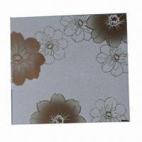 China PVC Self-adhesive Window Film with Golden Glitter Flower Pattern, 0.15mm Thickness on sale