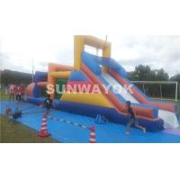 Huge commercial Inflatable obstacle course bounce house For Outside Entertainment Manufactures