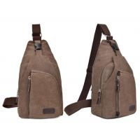 Men Single Strap Backpack For Outdoor Sports , Durable Brown Crossbody Bag ISO9001 Manufactures