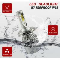 Auto High Power LED Headlights For Cars 70w 7600lm Waterproof  IP68 Manufactures