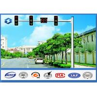 Material Q345 Traffic Signal Pole 6M Height with 11M Single Arm 20 years Warranty Manufactures