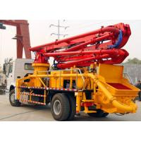 Boom Concrete Mixer Pump Truck Mounted Large Output Wireless Remote Control Manufactures