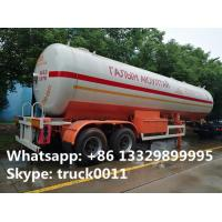 hot sale FUWA 2 axles 40500L propane gas trailer, best price FUWA/BPW double axles 17tons road transproted lpg gas tank Manufactures