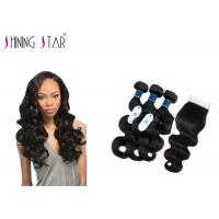 Tangle Free Unprocessed Virgin Remy Indian Hair / No Acid Unprocessed Indian Remy Hair Manufactures