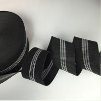 Black Color Width 3 Inch Replacement Webbing For Outdoor Furniture Manufactures