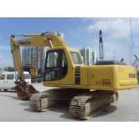 Pc200 Second Hand Komatsu Excavator 0.8cbm 600mm Shoe Size With 6 Cylinders Manufactures