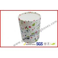 Buy cheap round cosmetic paper packaging boxes customized CMYK paper tube box with lid and base from wholesalers