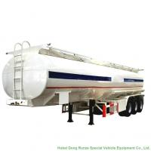China 48m3 Aluminum Fuel Tanker Semi Trailer Tri Axle For Diesel ,Oil , Gasoline, Kerosene  Transport  48T-50Ton on sale