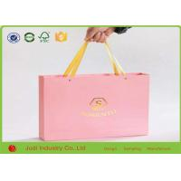 China Luxury Kraft Paper Bags Foldable Custom Paper Shopping Bags With Cotton Rope on sale