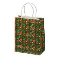 custom Store kraft paper carrier bags Printing 02 for shoping Manufactures