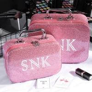 Ladies Waterproof Zipper Closure Glitter Makeup Bag Case Manufactures