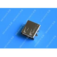 DIP 180 Degree Jack Socket 4 Pin USB Charging Connector , 15mm USB 2.0 Female Type A Connector Manufactures