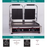 Quality Double Heads Electric Sandwich Griddle Snack Bar Equipment 110V/220V for sale