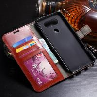 Shock Resistant LG V20 Wallet Case Slim Fit Synthetic PU With Card Slot Function Manufactures