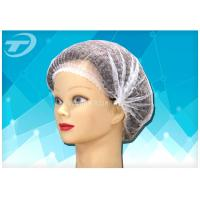 """Quality Disposable non-woven  clip cap 20 """" , single elastic , made from SPP fabric for sale"""
