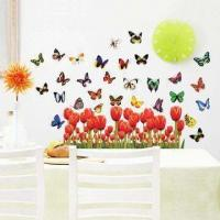 Flying Butterfly Wall Decal with UV Offset Printing and CMYK Colors Manufactures