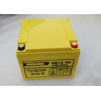 Rechargeable 12 v 26ah / 28ah M5 UPS Lead Acid Battery Deep Cycle 6FM26 Manufactures