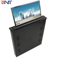 Brushed Aluminum Alloy  Panel Conference Table LED Screen Lifting Up Mechanism 17.3 Inch Screen Manufactures