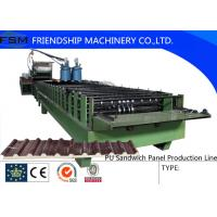 China Automatic Continuous PU Sandwich Panel Machinery With Non-stop Cutting Device on sale