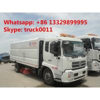 hot sale best price dongfeng 180hp road sweeper truck,2017s new dongfeng tianjin Euro 3 road cleaning vehicle for sale Manufactures