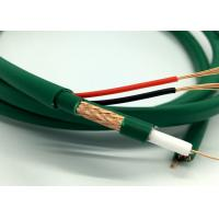 Kx7+2Alim Coaxial With Power CCTV Cable Video Wire for Camera Green PVC Manufactures