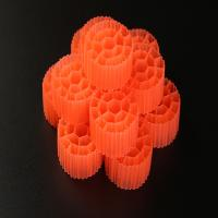 Virgin HDPE Material Plastic Filter Media With 19 Holes And White Color For RAS Manufactures