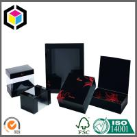 Clear Plastic Window Black Matte Color Print Paper Gift Chipboard Box Manufactures