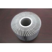 Silver Anodized Aluminum Extrusions Shapes Use For Alumiunm Heat Sink Manufactures