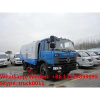 2018s cheapest price dongfeng RHD 170hp diesel 8-10tons road sweeping vehicle for sale, street sweeper cleaning  truck Manufactures