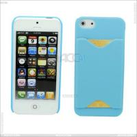China New Arrival Plastic Hard Case with Back Card Slot Cover for iPhone 5 on sale