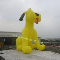 Inflatable yellow  dog model carton Manufactures