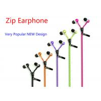 Quality 3.5mm In Ear Zipper earphone headphone headset with MIC Zip earphones for iphone Ipad Samsung HTC tablet pc MP3 for sale