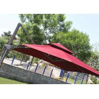 2.5m Mini Roma Cantilever Garden Umbrella With Marble Base , Red Double Layer Manufactures