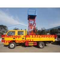 hot sale dongfeng  4*2 LHD 100hp diesel 12m aerial work platform truck,hydraulic scissor high altitude operation truck Manufactures
