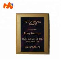 Black Blank Wood Plaques For Engraving / Gold Plated Finished Wood Plaques Manufactures