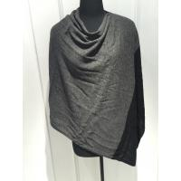 Black Grey Sleeveless Poncho Cardigan Sweater For Women Adults Autumn / Winter Manufactures