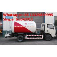 good quality diesel 4*2 CLW brand 2.3 metric tons lpg gas bobtail tank truck for sale, 5500L lpg gas filling tank truck Manufactures