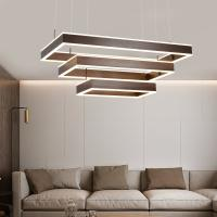 Square hanging light fixture Led Pendant lamp For Indoor home Lighting (WH-AP-12) Manufactures