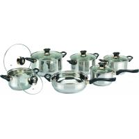 0.55 mm Body Thickness 12 PC Cooks Stainless Steel Cookware Sets, Cooking Pot Manufactures