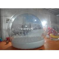 Custom Clear PVC Bubble Balloon Inflatable Snow Globe Tent With Airtight Base Manufactures