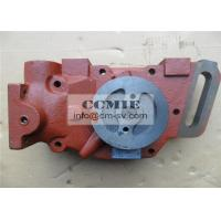 Shantui Bulldozer Parts Water Pump with Solid Steel Material FCC / SGS / ISO9001 Manufactures