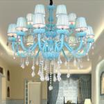 Pink crystal chandelier For Living room Kids Bedroom ( WH-C-02) Manufactures