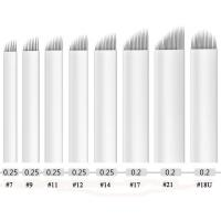 21mm Length Stainless Steel Microblading Needles Blade , 5 Blade Size Available Manufactures