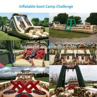 Outdoor Giant Military Ultimate challenge boot camp inflatable obstacle course for kids and adult